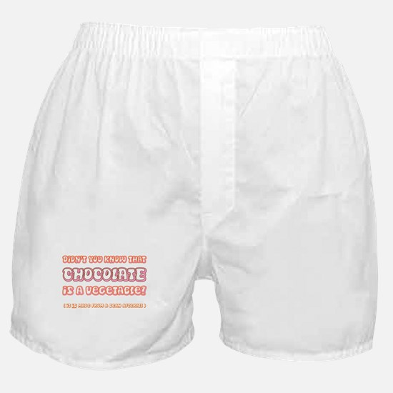 Chocolate is a Veggie Boxer Shorts