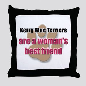 Kerry Blue Terriers woman's best friend Throw Pill