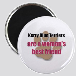 Kerry Blue Terriers woman's best friend Magnet