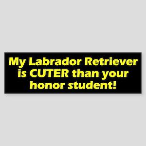 Cuter Labrador Retriever Bumper Sticker