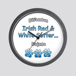 Red & White Not Wall Clock
