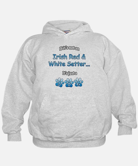 Red & White Not Hoodie