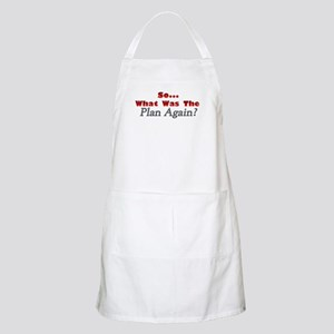 Whats the Plan? BBQ Apron