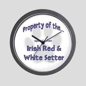 Red & White Property Wall Clock