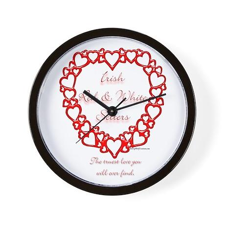 Red & White True Wall Clock