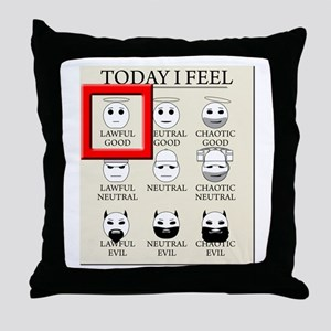 Today I Feel - Lawful Good Throw Pillow