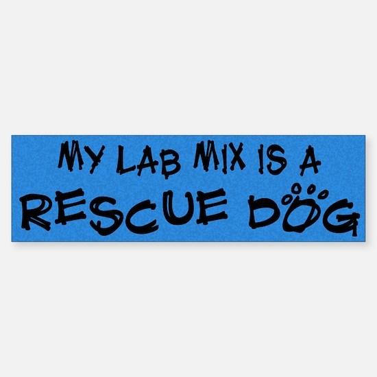 Rescue Dog Lab Mix Bumper Bumper Bumper Sticker