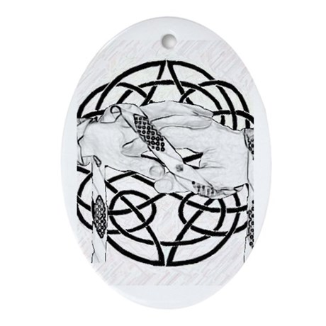 Handfasting Oval Ornament
