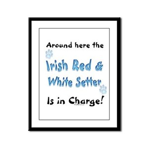 Red & White Charge Framed Panel Print
