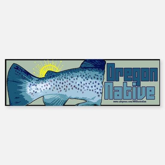 Oregon Native Fish (Bumper Sticker)