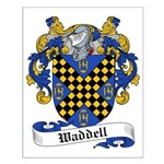 Waddell Family Crest Small Poster