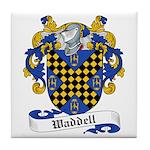 Waddell Family Crest Tile Coaster