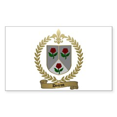 DOIRON Family Crest Rectangle Decal