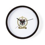 DOIRON Family Crest Wall Clock