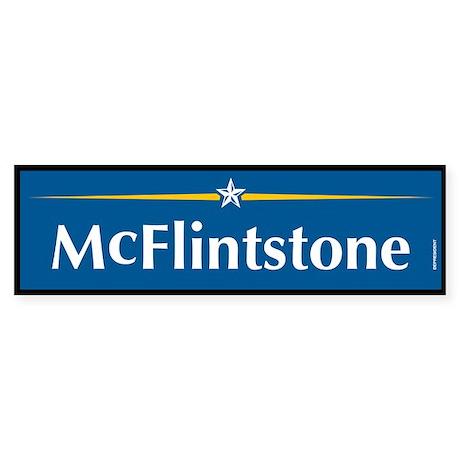 McFlintstone Anti John McCain Bumper Sticker