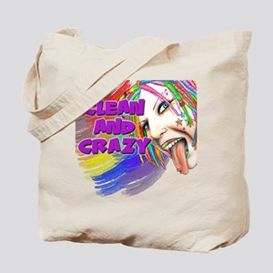 CLEAN AND CRAZY Tote Bag