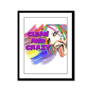 CLEAN AND CRAZY Framed Panel Print