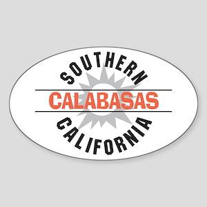 Calabasas California Oval Sticker