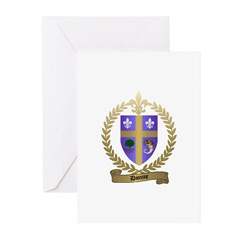 DIONNE Family Crest Greeting Cards (Pk of 10)
