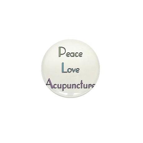 Peace, Love and Accupuncture Mini Button