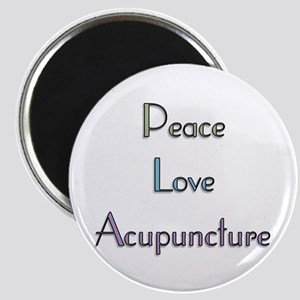 Peace, Love and Accupuncture Magnet