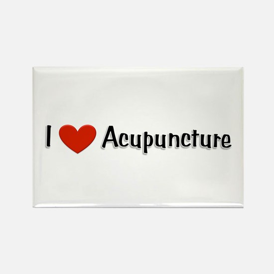 I love acupuncture Rectangle Magnet