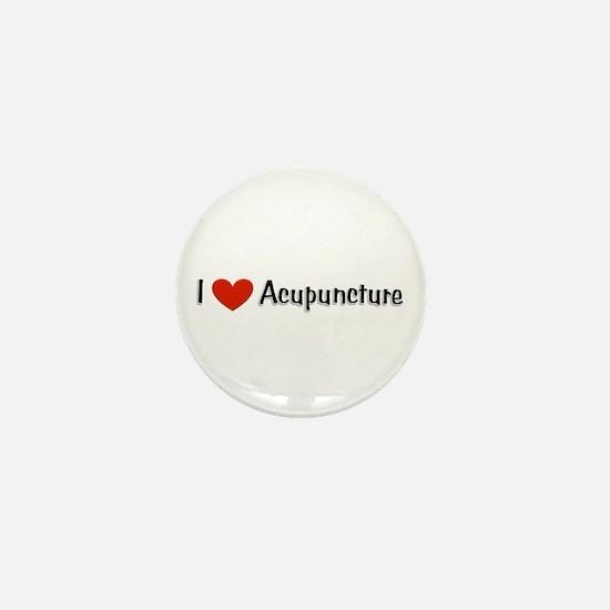 I love acupuncture Mini Button
