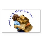 I Will Always Love You Rectangle Sticker 50 pk)