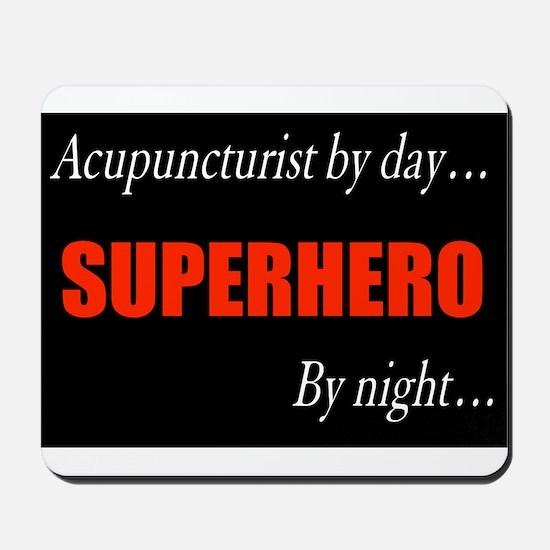 Superhero Acupuncturist Gift Mousepad