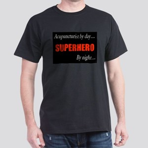 Superhero Acupuncturist Gift Dark T-Shirt