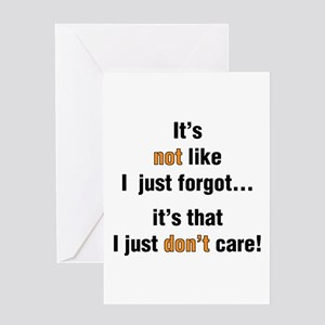 Do i care greeting cards cafepress i just dont care greeting card m4hsunfo