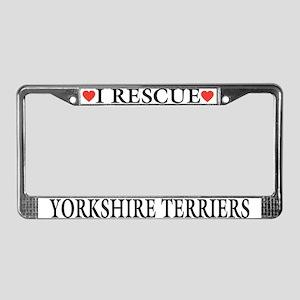Yorkie Rescue License Plate Frame