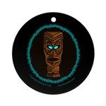 Tiki Blue Eyes Ornament (Round)