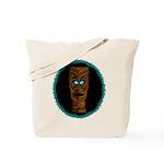 Tiki Blue Eyes Tote Bag
