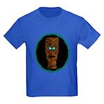 Tiki Blue Eyes Kids Dark T-Shirt