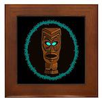 Tiki Blue Eyes Framed Tile