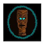 Tiki Blue Eyes Tile Coaster