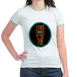 Tiki Blue Eyes Jr. Ringer T-Shirt