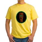 Tiki Blue Eyes Yellow T-Shirt