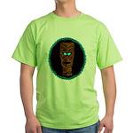 Tiki Blue Eyes Green T-Shirt