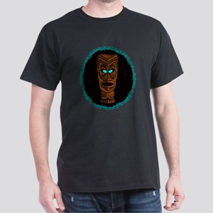 Tiki Blue Eyes Dark T-Shirt