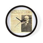James Wild West Show Wall Clock
