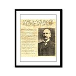 James Wild West Show Framed Panel Print