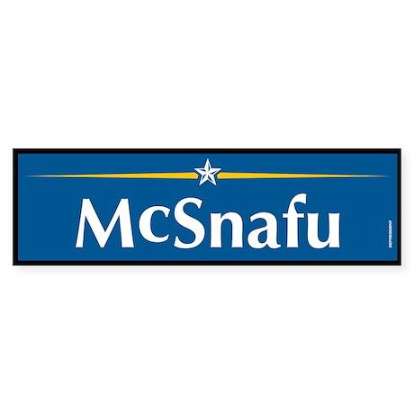 McSnafu Anti McCain Bumper Sticker