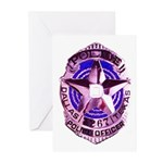 Dallas Police Officer Greeting Cards (Pk of 10)