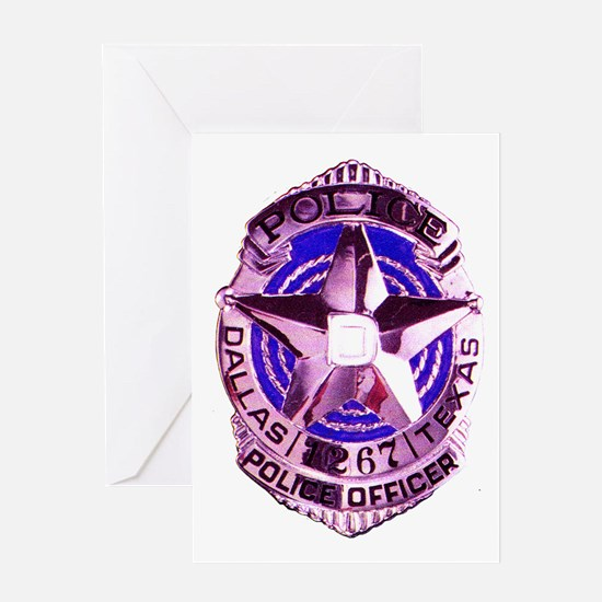 Dallas Police Officer Greeting Card