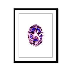Dallas Police Officer Framed Panel Print