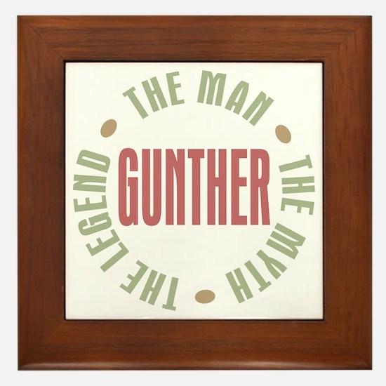 Gunther Man Myth Legend Framed Tile