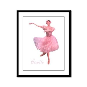 Ballerina Princess Framed Panel Print