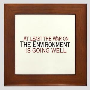 War on the Enviroment Framed Tile